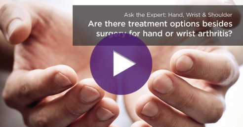 alternatives to surgery for hand arthritis